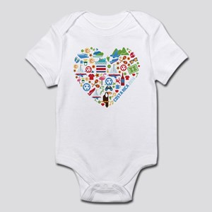 Costa Rica World Cup 2014 Heart Infant Bodysuit