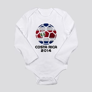 Costa Rica World Cup 2 Long Sleeve Infant Bodysuit
