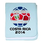 Costa Rica World Cup 2014 baby blanket