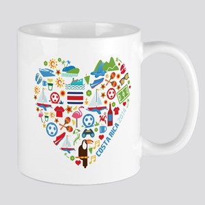Costa Rica World Cup 2014 Heart Mug