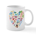 Costa Rica World Cup 2014 Heart Mug