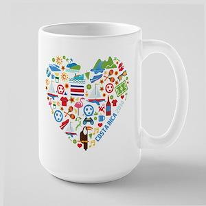 Costa Rica World Cup 2014 Heart Large Mug