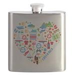 Costa Rica World Cup 2014 Heart Flask