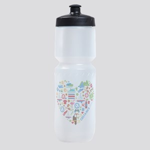 Costa Rica World Cup 2014 Heart Sports Bottle