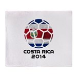 Costa Rica World Cup 2014 Throw Blanket