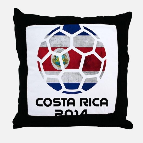 Costa Rica World Cup 2014 Throw Pillow