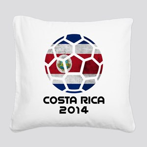 Costa Rica World Cup 2014 Square Canvas Pillow
