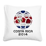 Costa Rica World Cup 2014 Square Canvas Pillow