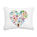 Costa Rica World Cup 201 Rectangular Canvas Pillow