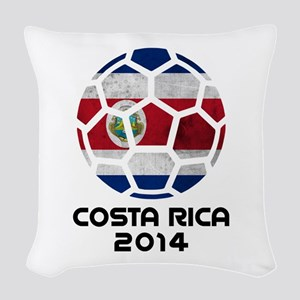 Costa Rica World Cup 2014 Woven Throw Pillow
