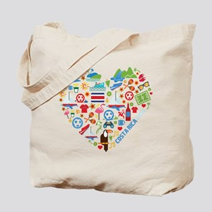 Costa Rica World Cup 2014 Heart Tote Bag