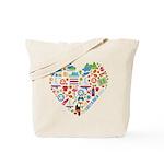 Costa Rica World Cup 2014 Heart Tote Bag