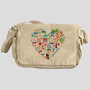Costa Rica World Cup 2014 Heart Messenger Bag