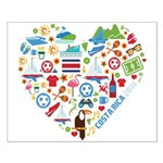 Costa Rica World Cup 2014 Heart Small Poster