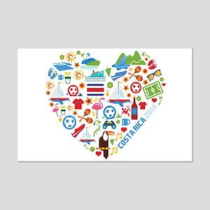 Costa Rica World Cup 2014 Heart Mini Poster Print