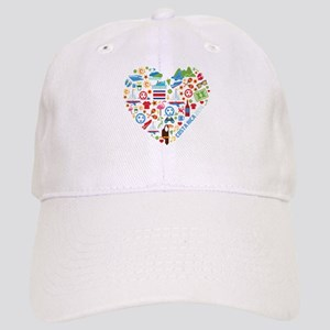 Costa Rica World Cup 2014 Heart Cap