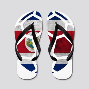 Costa Rica World Cup 2014 Flip Flops