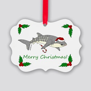 Xmas Whale Shark Picture Ornament