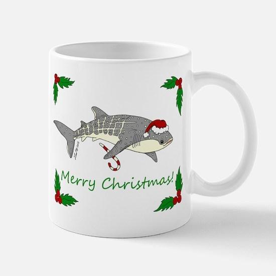 xmas whale shark Mugs