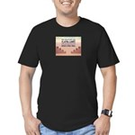 Build A Real Wall Men's Fitted T-Shirt (dark)