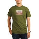 Build A Real Wall Organic Men's T-Shirt (dark)
