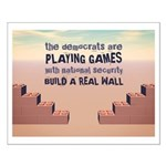 Build A Real Wall Small Poster