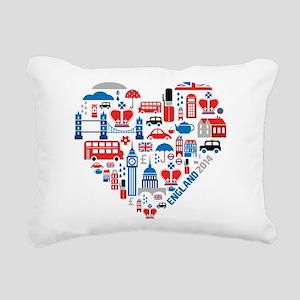England World Cup 2014 H Rectangular Canvas Pillow