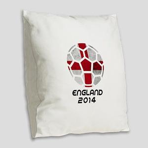 England World Cup 2014 Burlap Throw Pillow