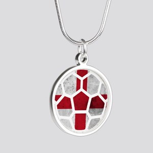 England World Cup 2014 Silver Round Necklace