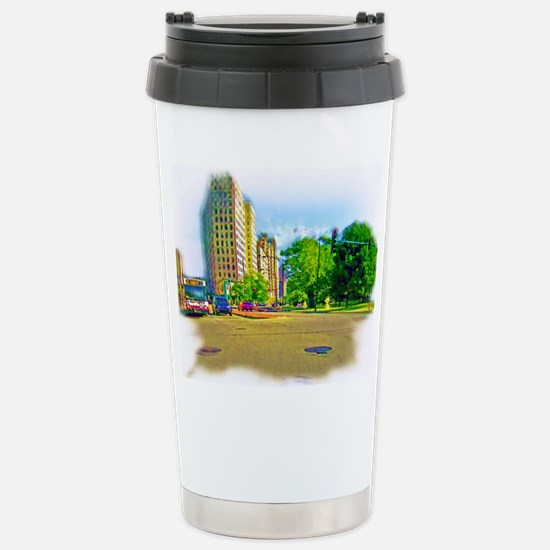 Air Brushed Painting of Lincoln Avenue Travel Mug