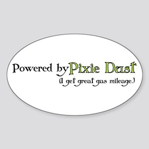 Powered by Pixie Dust Oval Sticker