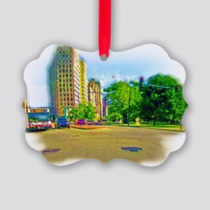 Air Brushed Painting of Lincoln Avenue Ornament
