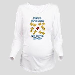 Fargo Fish Long Sleeve Maternity T-Shirt
