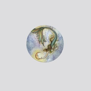 Deep Sea Moon Mermaid Fantasy Art Mini Button