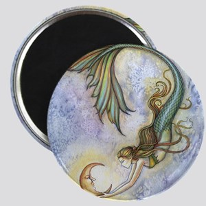 Deep Sea Moon Mermaid Fantasy Art Magnet