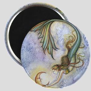 Deep Sea Moon Mermaid Fantasy Art Magnet