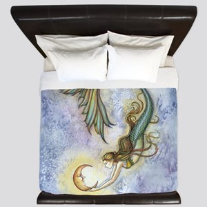 Deep Sea Moon Mermaid Fantasy Art King Duvet