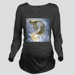 Deep Sea Moon Mermai Long Sleeve Maternity T-Shirt