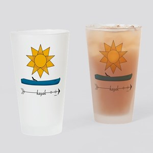 PADDLE UNTIL I DIE Drinking Glass