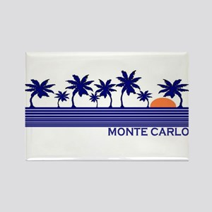 Monte Carlo Blue Sunset Rectangle Magnet