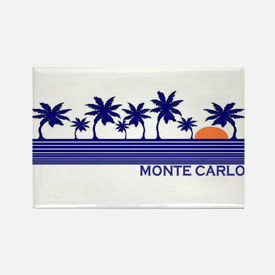 Monte Carlo Blue Sunset Rectangle Magnet (100 pac