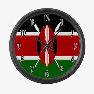 Flag of Kenya Large Wall Clock