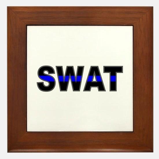 Blue Line SWAT Framed Tile