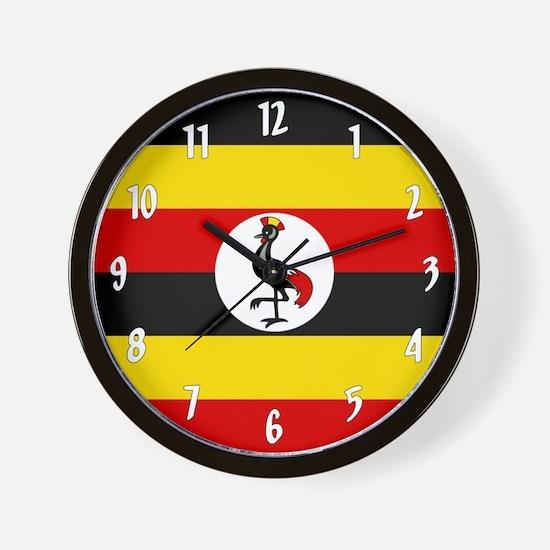 Flag of Uganda Wall Clock