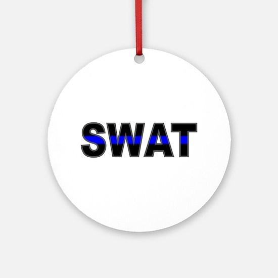 Blue Line SWAT Ornament (Round)