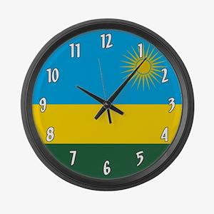 Flag of Rwanda Large Wall Clock