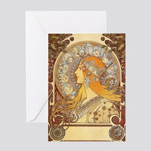 Alphonse Mucha - Zodiac Greeting Card