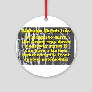 Alabama Dumb Law #4 Round Ornament