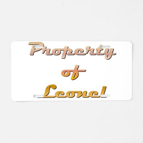 Property Of Leonel Male Aluminum License Plate