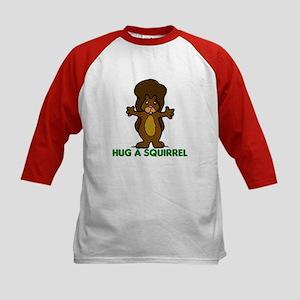 Hug a Squirrel Kids Baseball Jersey